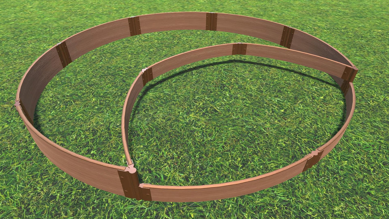 "Tool-Free 'Peppermint Cream' - 10' x 10' Circular Terrace Garden Raised Bed (Double Tier) Raised Garden Beds Frame It All Classic Sienna 1"" 1 Level"