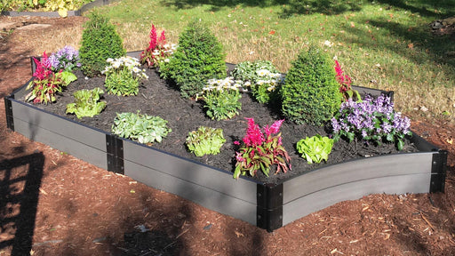"Tool-Free 'Silver Salver' - 6' x 16' Scalloped Raised Garden Bed Raised Garden Beds Frame It All Weathered Wood 1"" 2 = 11"""