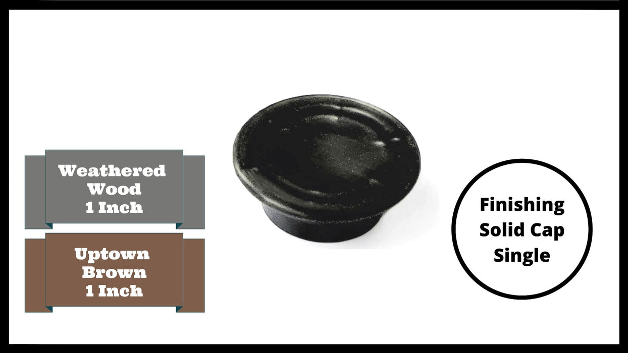 "Tool-Free Snap-Lock Raised Garden Bed Finishing Solid Cap – 1"" Replacement (Single-Black) Parts Frame It All"