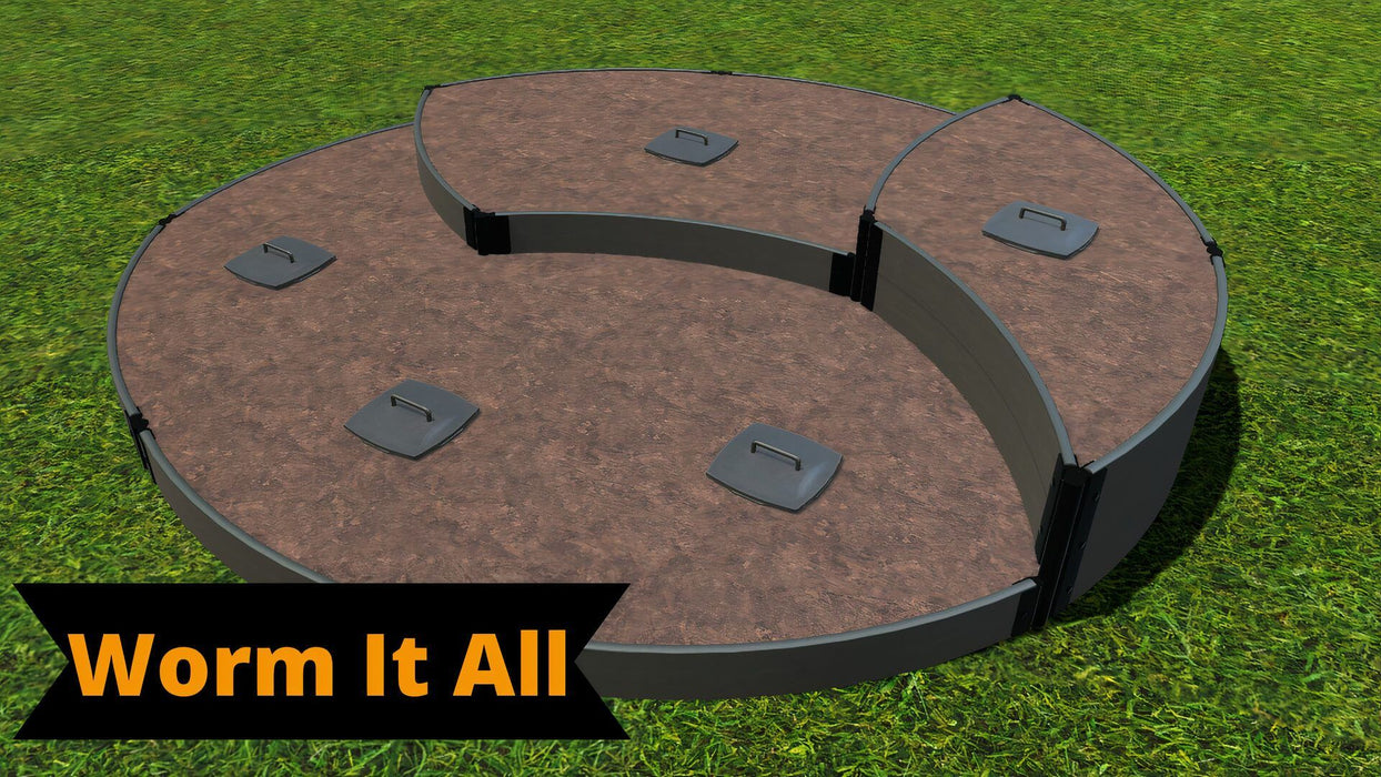 Tool-Free 'Sugar Cone' - 10' x 10' Circular Terrace Garden Raised Bed (Triple Tier) Raised Garden Beds Frame It All