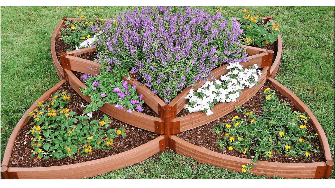 "Tool-Free 'Versailles Sunburst' 8 'x 8' x 16.5"" Terrace Garden Raised Bed (Triple Tier) Raised Garden Beds Frame It All Classic Sienna 2"""