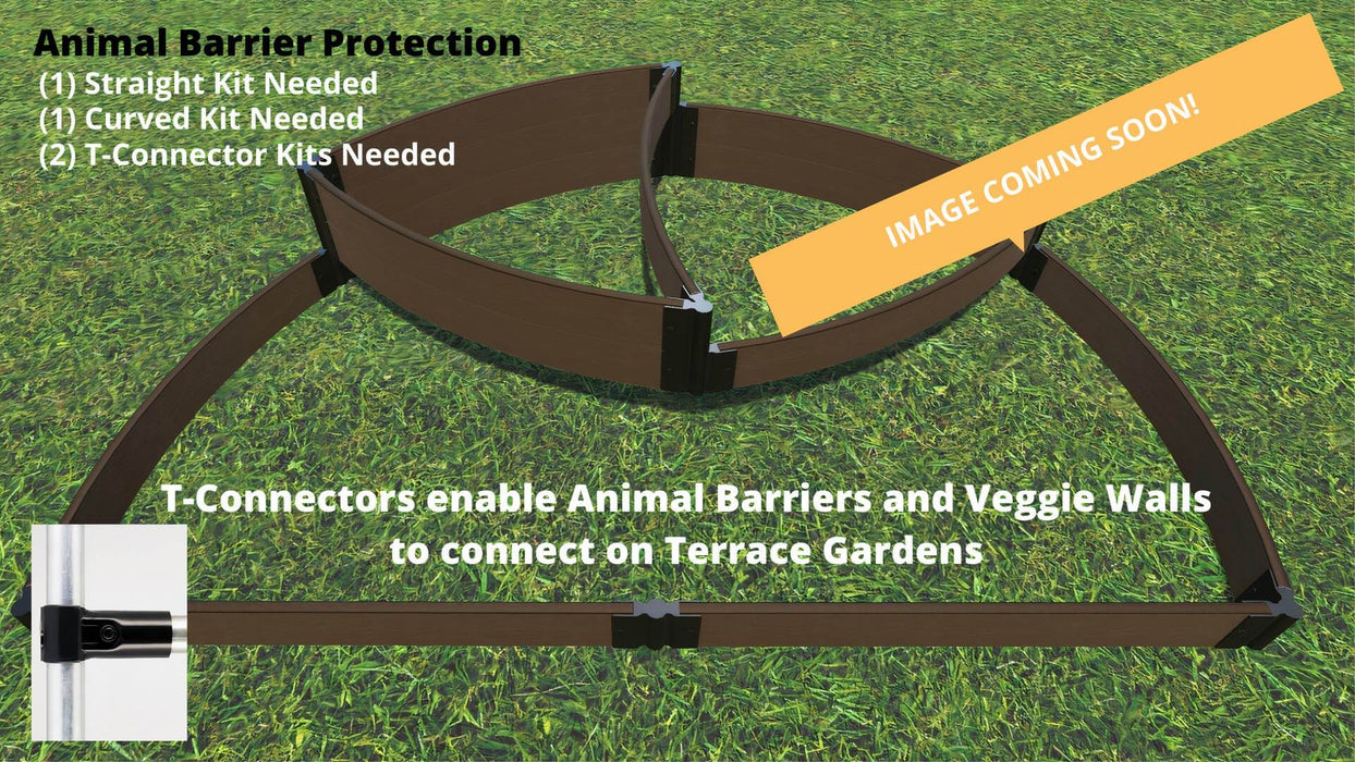 "Tool-Free 'Victory Cockade' - 6' x 8' x 16.5"" Semi Circle Terrace Garden Raised Bed (Triple Tier) Raised Garden Beds Frame It All"