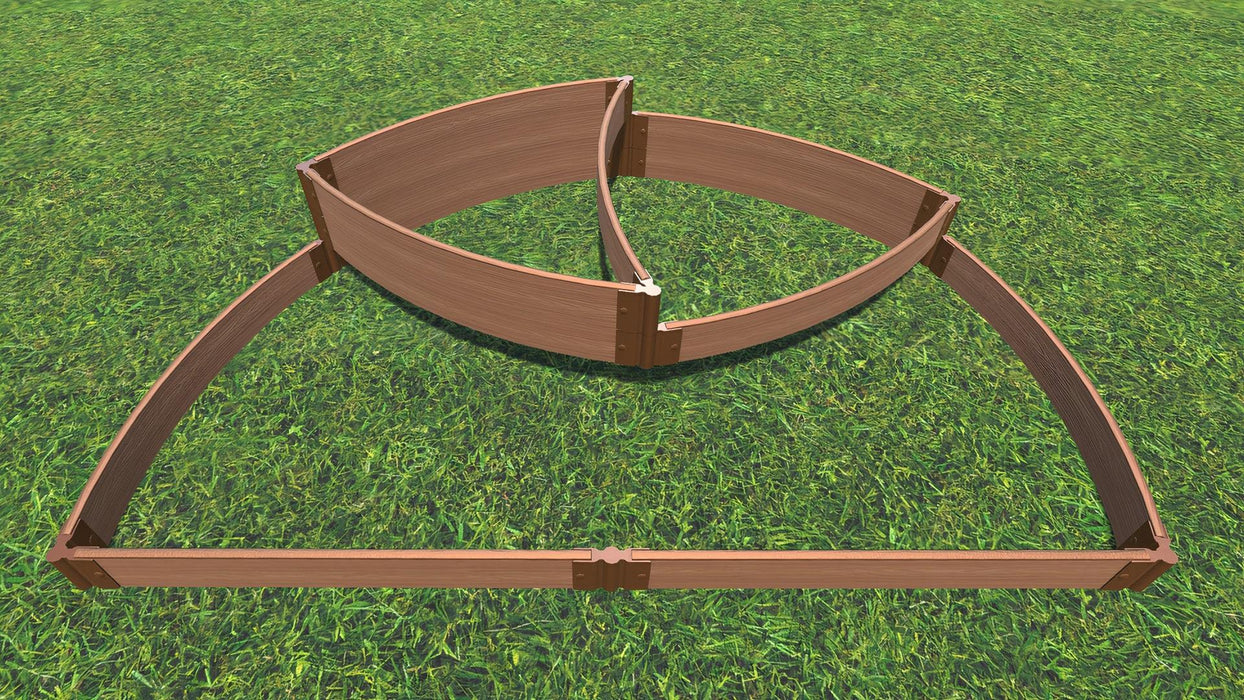 "Tool-Free 'Victory Cockade' - 6' x 8' x 16.5"" Semi Circle Terrace Garden Raised Bed (Triple Tier) Raised Garden Beds Frame It All Classic Sienna 1"" 3 Tier Terrace"