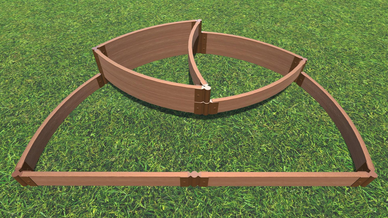 "Tool-Free 'Victory Cockade' - 6' x 8' x 16.5"" Semi Circle Terrace Garden Raised Bed (Triple Tier) Raised Garden Beds Frame It All Classic Sienna 2"" 3 Tier Terrace"