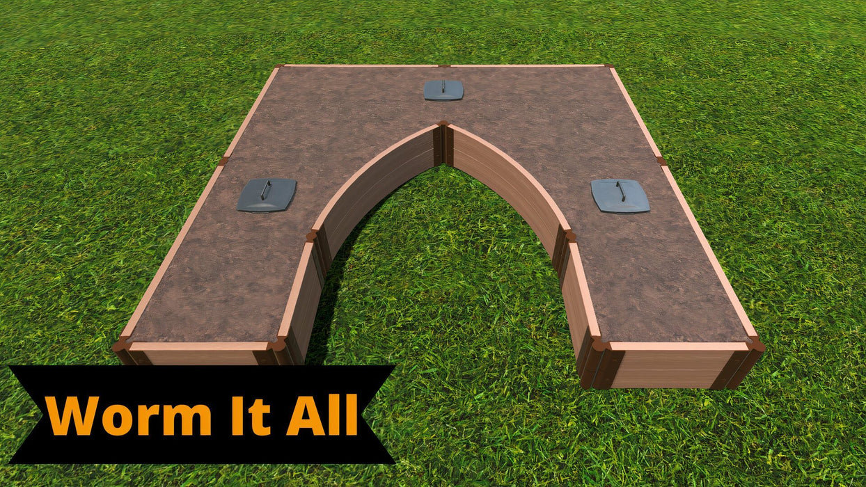 Tool-Free 'Walk-In Cathedral' - 8' x 8' Raised Garden Bed Raised Garden Beds Frame It All