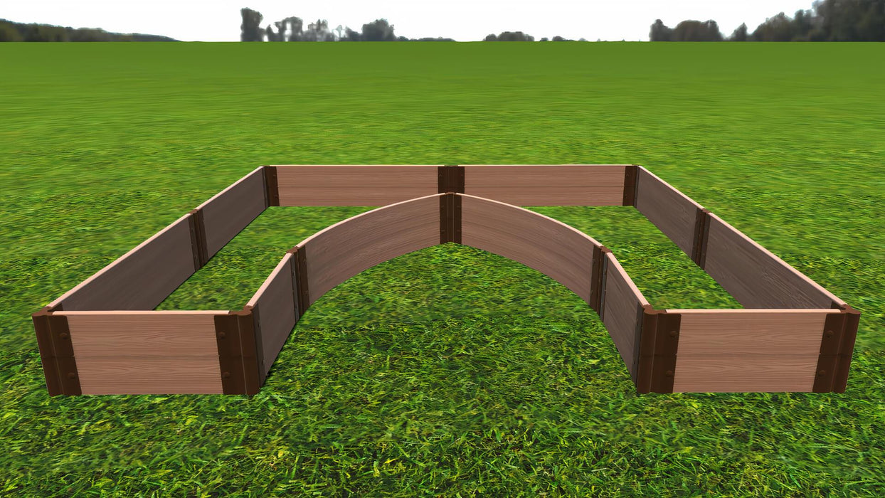 "Tool-Free 'Walk-In Cathedral' - 8' x 8' Raised Garden Bed Raised Garden Beds Frame It All Classic Sienna 1"" 2 = 11"""
