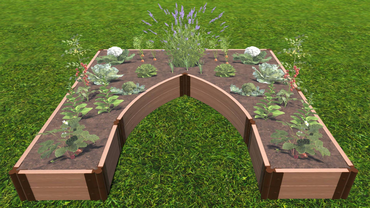 "Tool-Free 'Walk-In Cathedral' - 8' x 8' Raised Garden Bed Raised Garden Beds Frame It All Classic Sienna 2"" 2 = 11"""