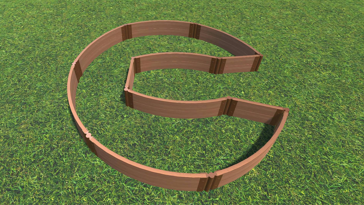 "Tool-Free 'Walk-In Circle Chicago Keyhole Path' - 9' x 9' Raised Garden Bed Raised Garden Beds Frame It All Classic Sienna 2"" 2 = 11"""