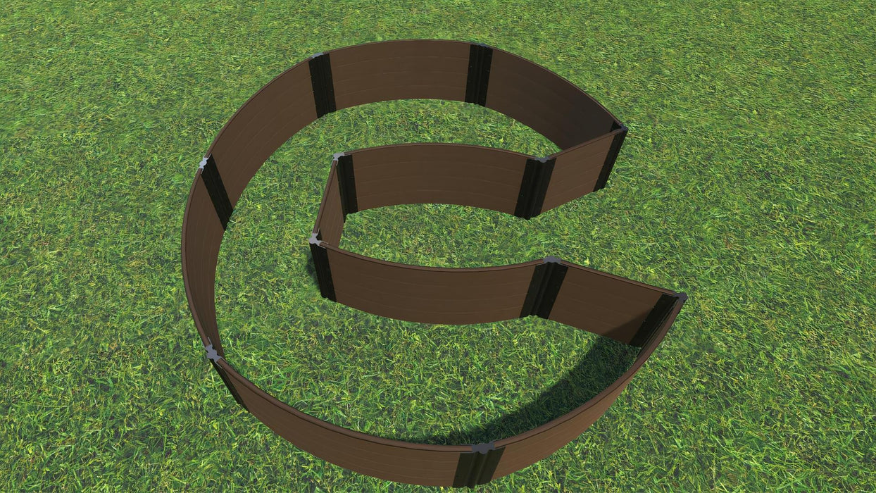 "Tool-Free 'Walk-In Circle Chicago Keyhole Path' - 9' x 9' Raised Garden Bed Raised Garden Beds Frame It All Uptown Brown 1"" 4 = 22"""