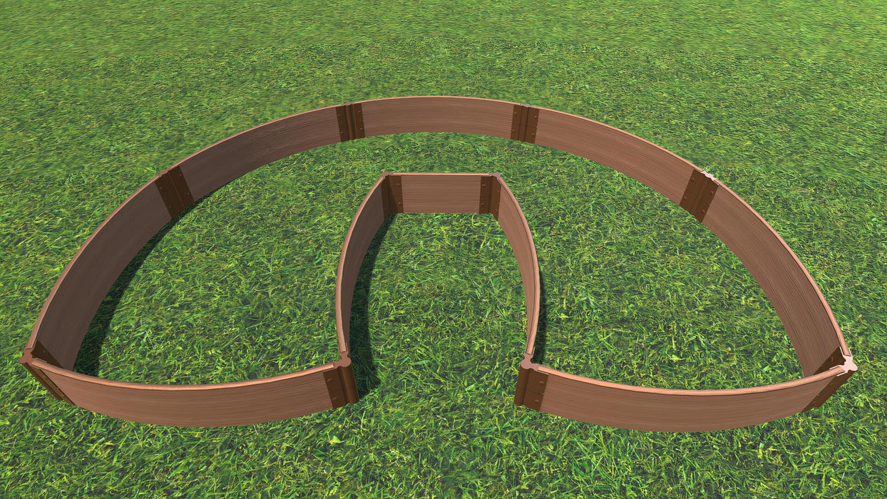 "Tool-Free 'Walk-In Lucky Horseshoe Curved' - 6' x 9' Raised Garden Bed Raised Garden Beds Frame It All Classic Sienna 1"" 2 = 11"""