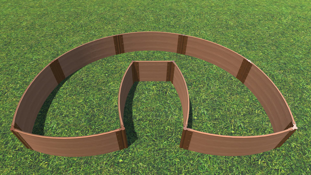 "Tool-Free 'Walk-In Lucky Horseshoe Curved' - 6' x 9' Raised Garden Bed Raised Garden Beds Frame It All Classic Sienna 1"" 3 = 16.5"""