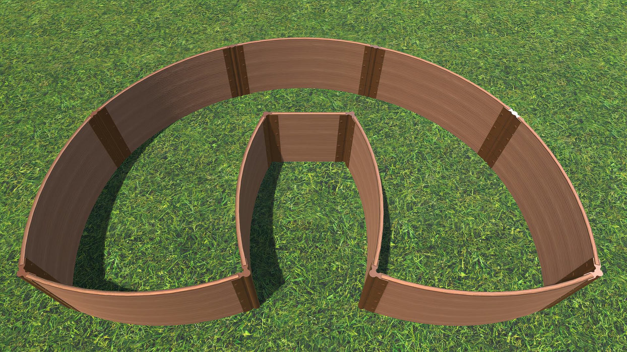 "Tool-Free 'Walk-In Lucky Horseshoe Curved' - 6' x 9' Raised Garden Bed Raised Garden Beds Frame It All Classic Sienna 1"" 4 = 22"""