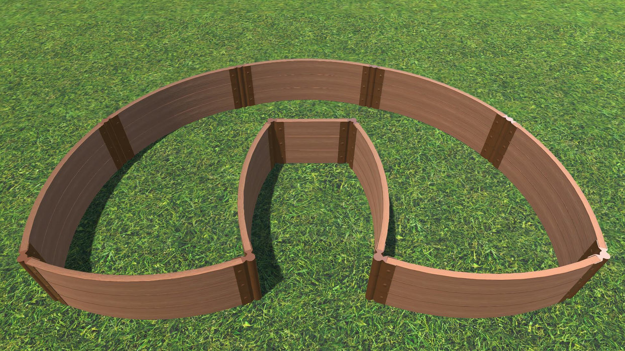 "Tool-Free 'Walk-In Lucky Horseshoe Curved' - 6' x 9' Raised Garden Bed Raised Garden Beds Frame It All Classic Sienna 2"" 3 = 16.5"""