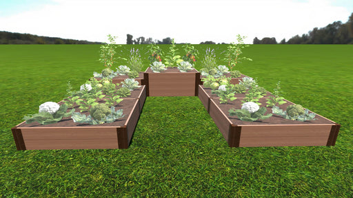 "Tool-Free 'Walk-In U-Shape' - 12' x 12' x 22"" Terrace Garden Raised Bed (Triple Tier) Raised Garden Beds Frame It All Classic Sienna 1"""