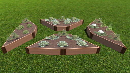 "Tool-Free 'Walk-Through Elizabethan' - 12' x 12' Raised Garden Bed (4-Sided Triangle) Raised Garden Beds Frame It All Classic Sienna 1"" 2 = 11"""
