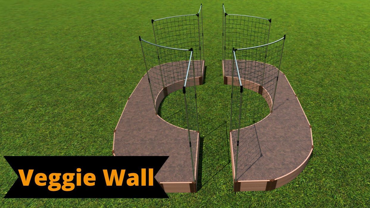 Tool-Free 'Walk-Through Inner Circle Curved Edges' - 14' x 16' Raised Garden Bed Raised Garden Beds Frame It All