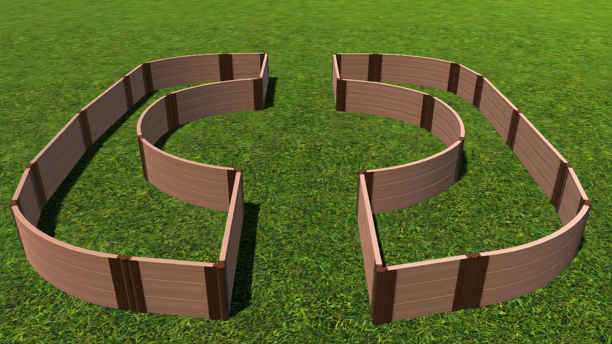 "Tool-Free 'Walk-Through Inner Circle Curved Edges' - 14' x 16' Raised Garden Bed Raised Garden Beds Frame It All Classic Sienna 2"" 3 = 16.5"""