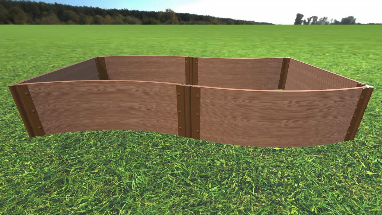 "Tool-Free 'Wavy Navy' - 4' x 8' Raised Garden Bed Raised Garden Beds Frame It All Classic Sienna 1"" 3 = 16.5"""