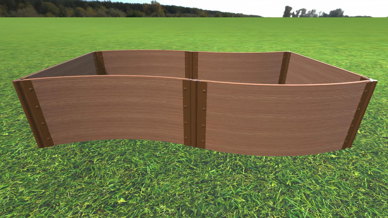 "Tool-Free 'Wavy Navy' - 4' x 8' Raised Garden Bed Raised Garden Beds Frame It All Classic Sienna 1"" 4 = 22"""