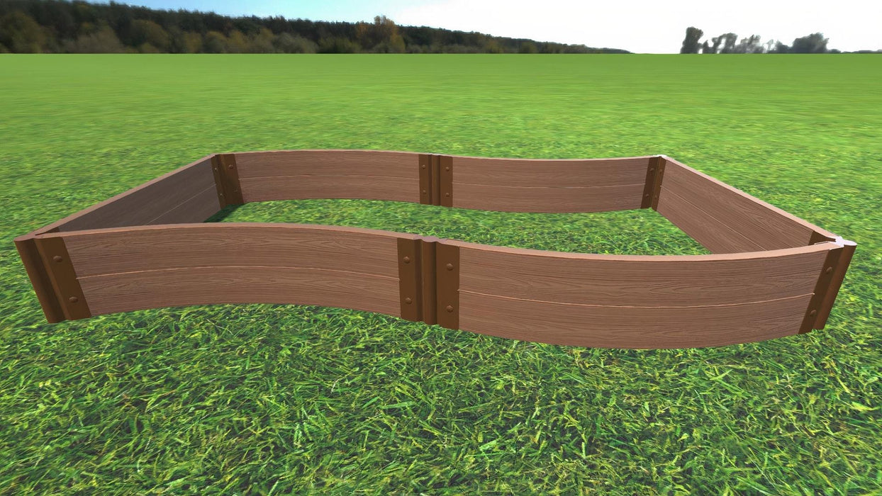 "Tool-Free 'Wavy Navy' - 4' x 8' Raised Garden Bed Raised Garden Beds Frame It All Classic Sienna 2"" 2 = 11"""