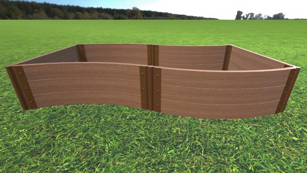 "Tool-Free 'Wavy Navy' - 4' x 8' Raised Garden Bed Raised Garden Beds Frame It All Classic Sienna 2"" 3 = 16.5"""