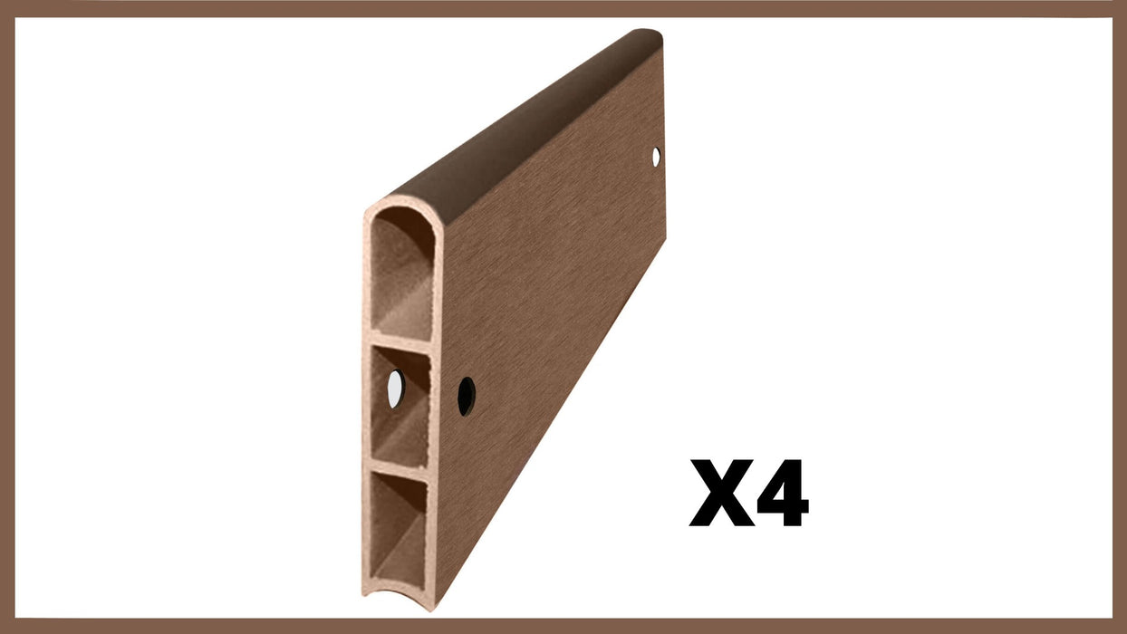 "Uptown Brown 2' Snap-Lock Ready 1"" Profile Composite Straight Boards w/ Bracket Packs (4 Board Pack) Parts Frame It All"