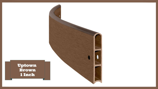 "Uptown Brown 4' Snap-Lock Ready 1"" Profile Composite Curved Board Parts Frame It All Uptown Brown Curved 1 Inch Width x 4 Foot Length"