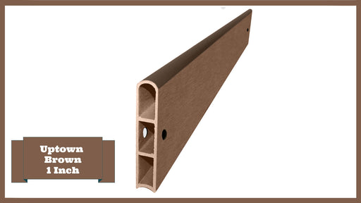 "Uptown Brown 4' Snap-Lock Ready 1"" Profile Straight Board Parts Frame It All Uptown Brown Straight 1 Inch Width x 4 Foot Length"