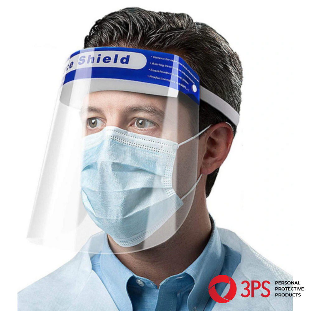 DISPOSABLE PLASTIC FACE SHIELD  - Pack of 10
