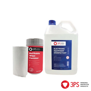 Computer & Device Hygienic Clean Wipes System - with 5L x 70% Isopropanol Disinfectant