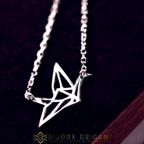 Collier grue origami ™