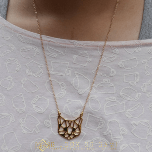 Collier chat origami (4)
