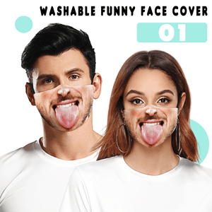 Washable Funny Face Cover