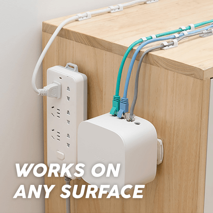 Stick & Slide Power Strip Holder (2pc)