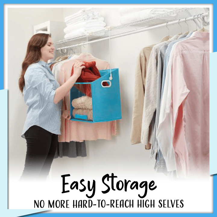 Hanging Shelf Closet Organizer