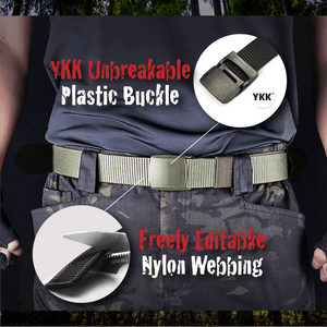 Military Grade Tactical Canvas Belt