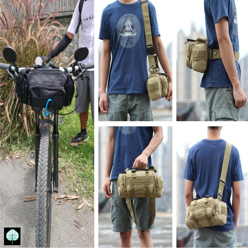 Everlong 5-in-1 Bike Handlebar Bag, Shoulder Bag, Waist Pouch, Handbag