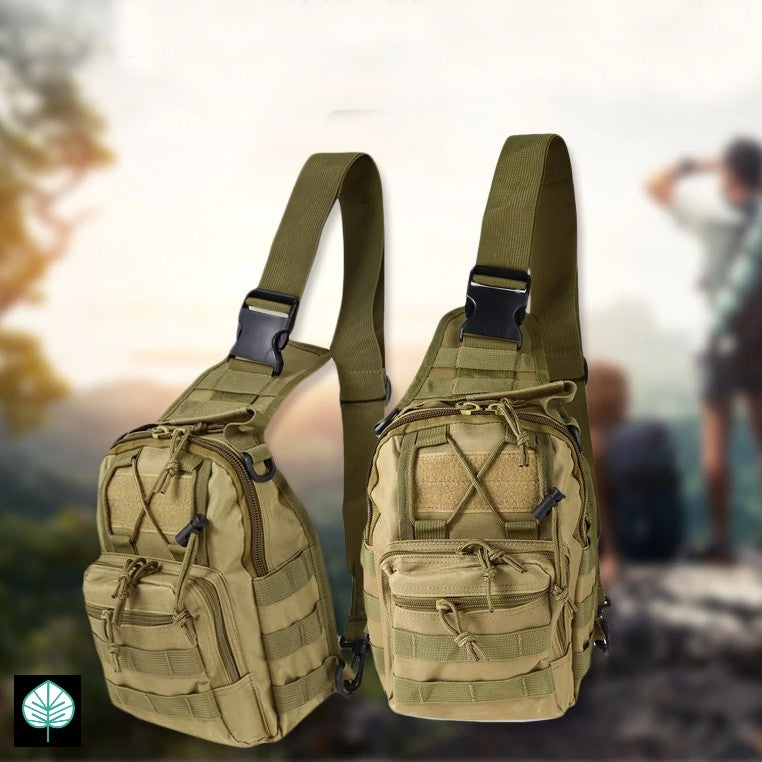 Everlong Cross Body Single Sling Chest Pack with Free Tac Cap