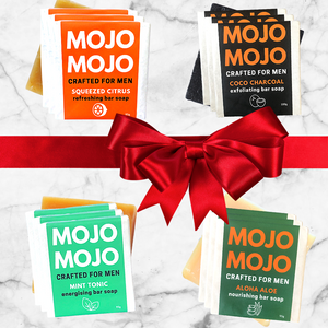 MOJOMOJO KING SET All-in bar soap bundle packaged