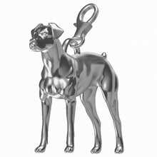 Load image into Gallery viewer, Doberman Charm - Docked Tail/Natural Ears
