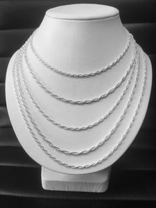Stunning Sterling Silver Solid Rope Chain