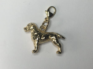 Border Terrier Charm 9ct Gold