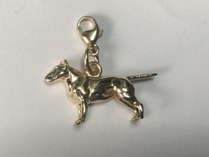English Bull Terrier Charm 9ct Gold