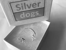 Load image into Gallery viewer, Sterling Silver Walking Paw Print Ring