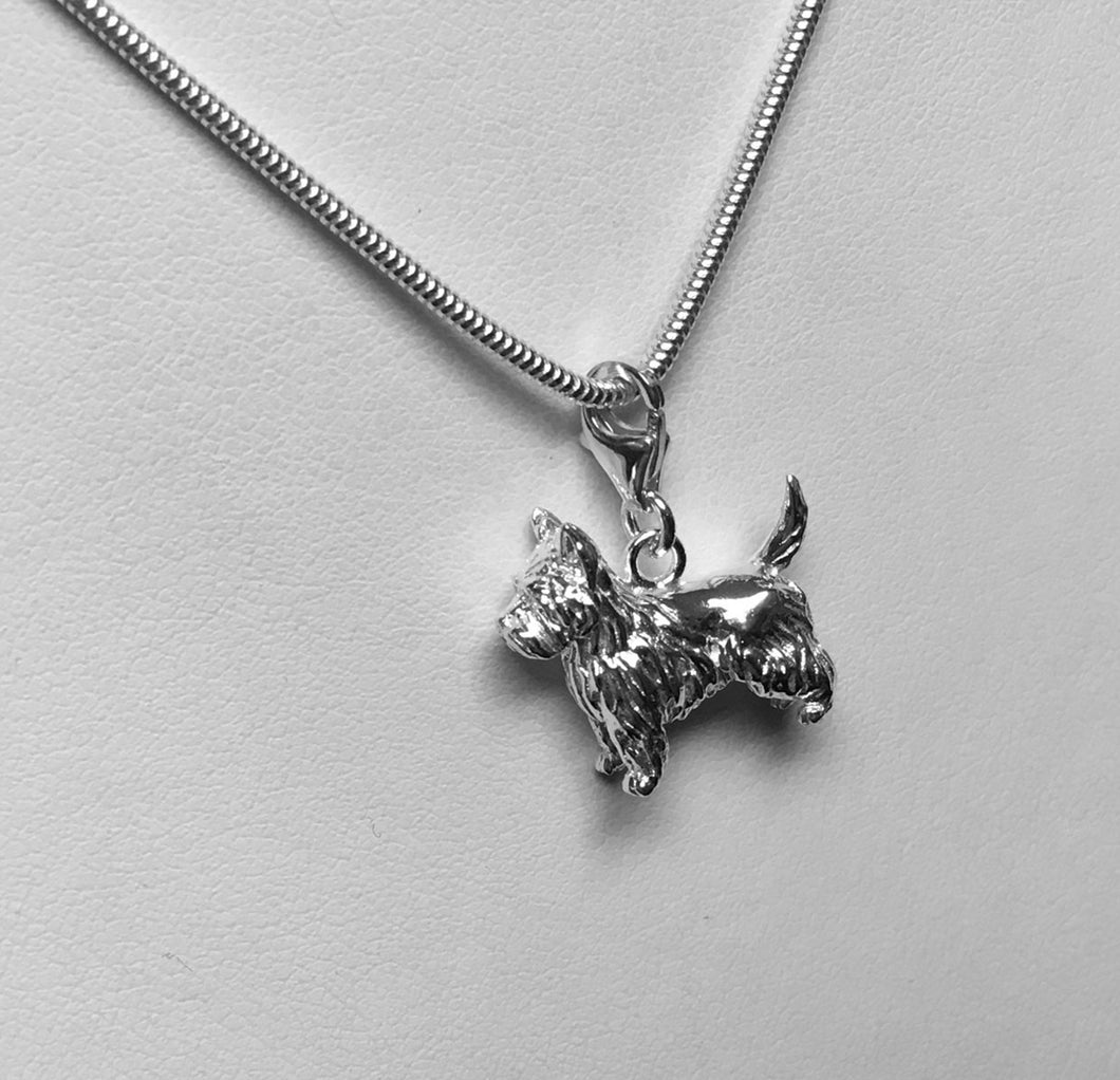 A West Highland Terrier (Westie) Pendant With a Chain