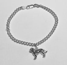 Load image into Gallery viewer, Curb Chain Silver Bracelet with Cockapoo Charm