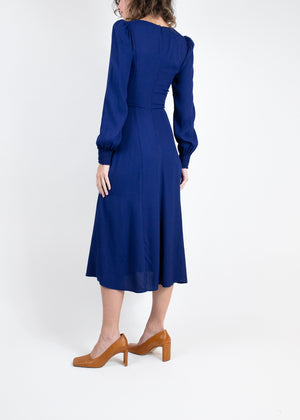 Rent Reformation Long Sleeve Sweetheart Neck Midi Dress from Rotaro