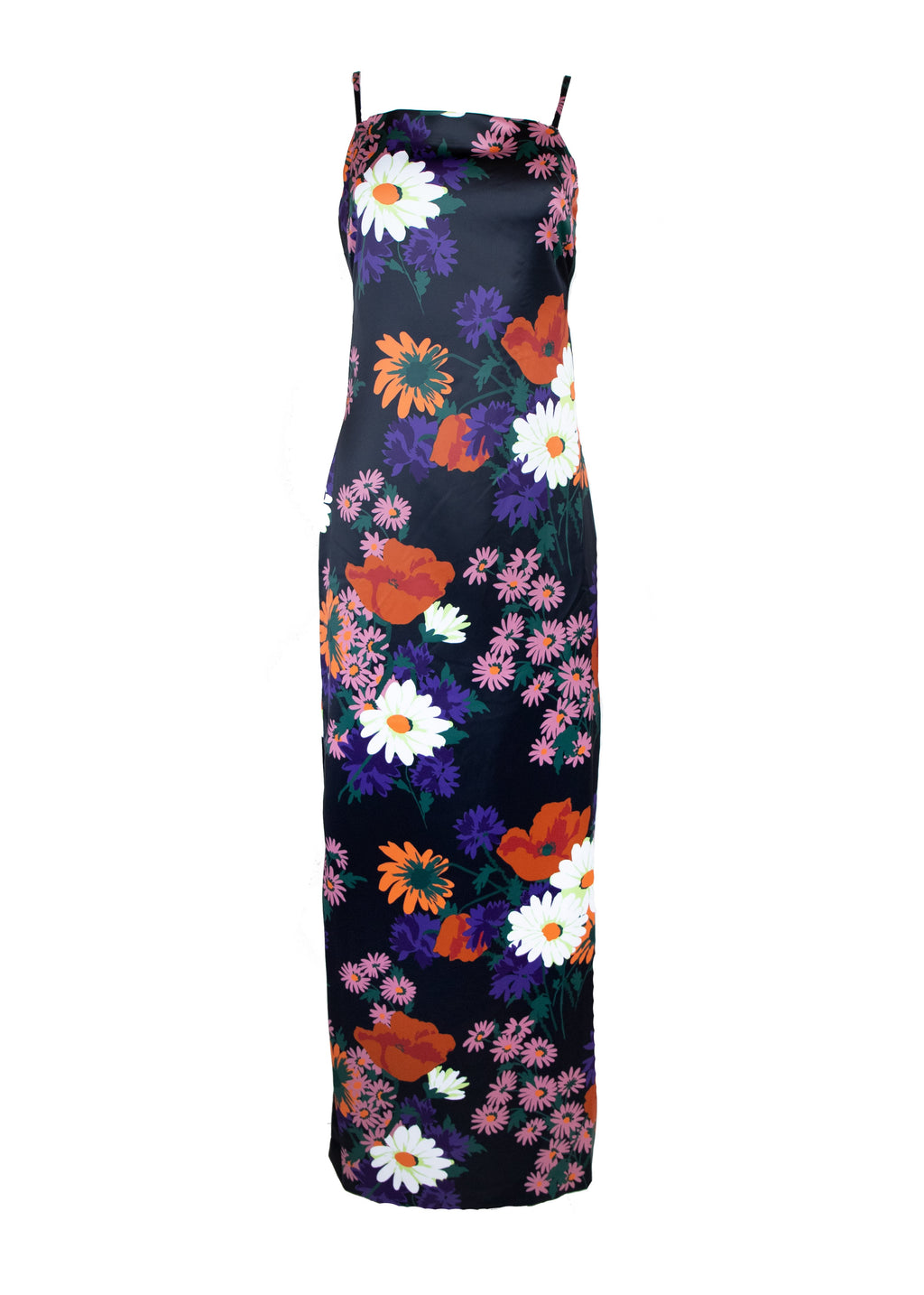 Rent Staud Floral Satin Maxi Dress from Rotaro