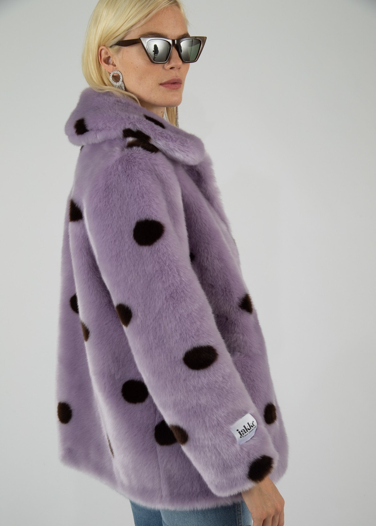Rent Jakke Lilac Tilly Faux Fur Coat from Rotaro