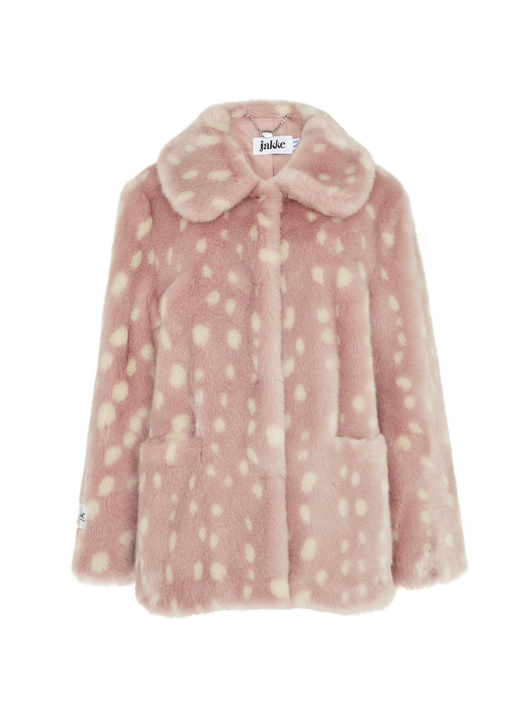 Rent Jakke Tilly Pink Faux Fur Jacket from Rotaro